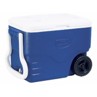 Blue Wheeled Cooler