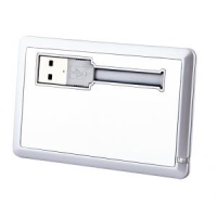 Silver Credit Card Flash Drive