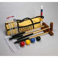 Star Outdoor Family Croquet in YellowCanvas Bag