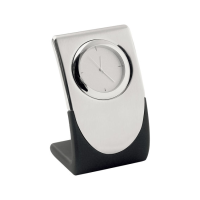Elite Silver Quartz Clock