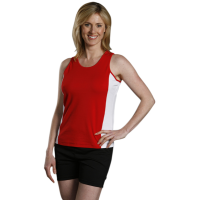 Men's and Ladies' Contrast CoolDry Mesh Singlet